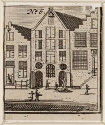 Nieuwe Amstelstraat 5-9, op nummer 7 de Joodse Vleeshal