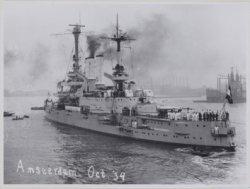 Bezoek Duitse kruiser Schleswig-Holstein