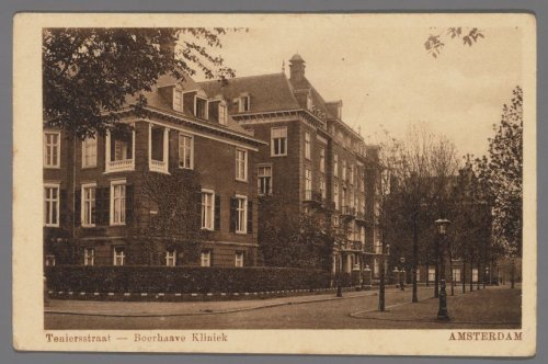 beeldbank stadsarchief amsterdam - teniersstraat - boerhaave kliniek
