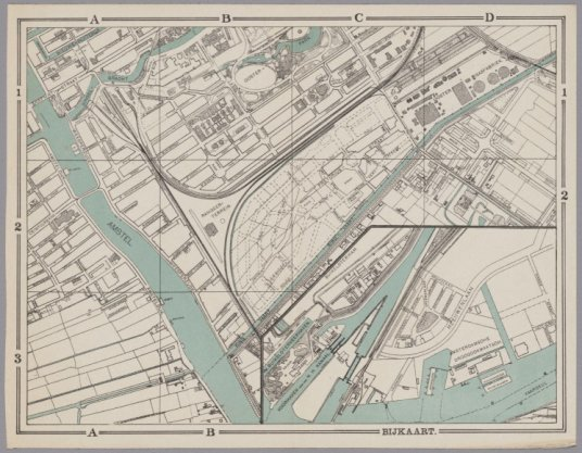 Historische kaart van Amsterdam