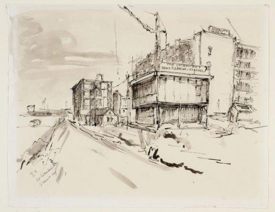 De Boelelaan 1117, het Academisch Ziekenhuis van de Vrije Universiteit in aanbouw, gezien vanaf de Amstelveenseweg