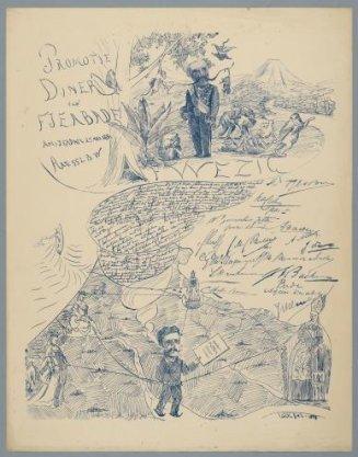 Promotiediner van F.J.E.A. Bade, Amsterdam 25 mei 1881