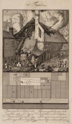 Figuur, vertonende de verbrande deelen en opgaande wasem van de Zeperij