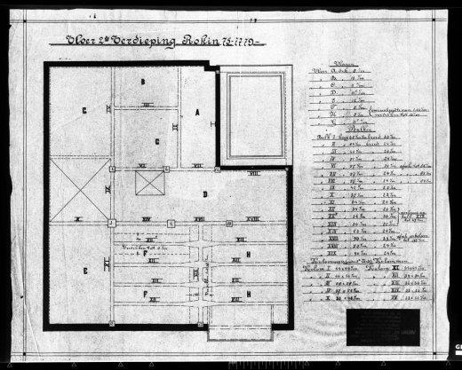 Tekeningen van trappen, betonconstructies etc. behorende bij kantoorgebouw voor de firma B.H. Manus
