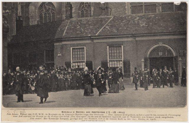 Bezoek van Koningin Wilhelmina en Prins Hendrik, 1908