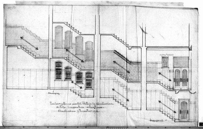 Plan tot het bouwen van een kantoorgebouw voor de firma B.H.Manus