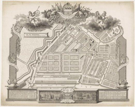 Kaart van burgerwijk 15