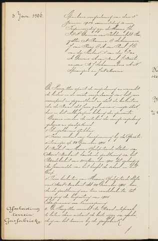 Princenhage - Notulen van de gemeenteraad 1906-01-01