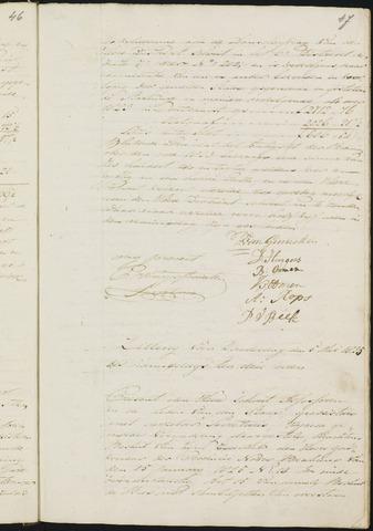 Teteringen - Notulen en bijlagen van de gemeenteraad 1825-01-01
