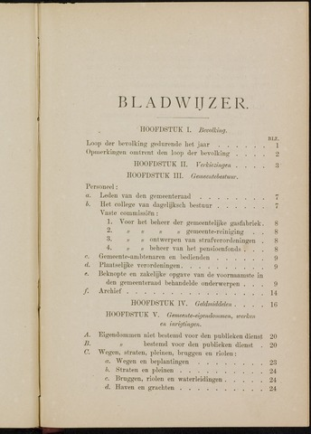Breda - Verslagen van de toestand van de gemeente 1880