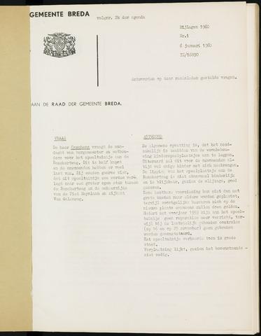 Breda - Bijlagen bij de notulen van de gemeenteraad 1960