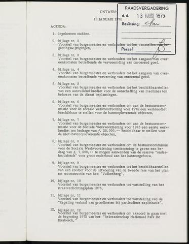 Breda - Notulen van de gemeenteraad 1975-01-01