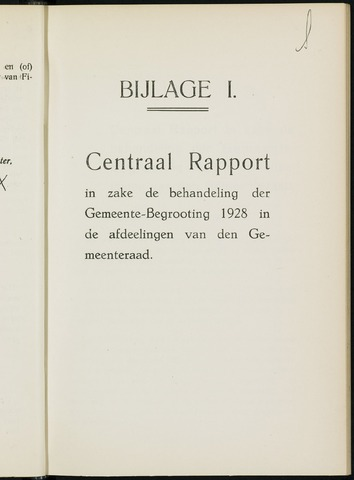 Breda - Bijlagen bij de notulen van de gemeenteraad 1928