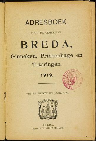 Adresboeken 1919-01-01