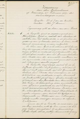 Teteringen - Notulen en bijlagen van de gemeenteraad 1939