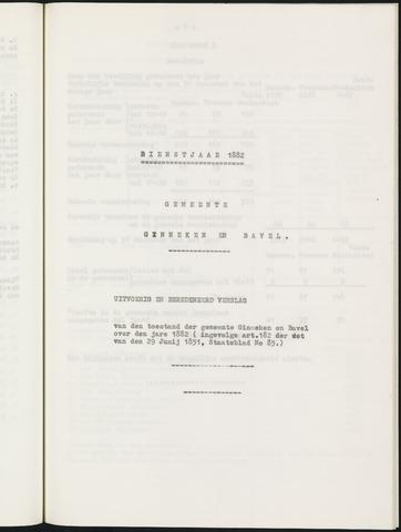 Ginneken en Bavel - Verslagen van de toestand van de gemeente 1882