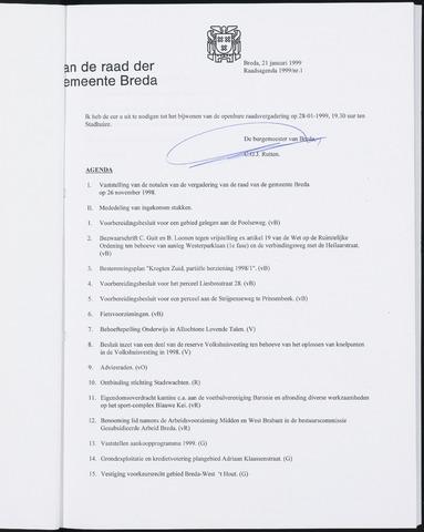 Breda - Bijlagen bij de notulen van de gemeenteraad 1999
