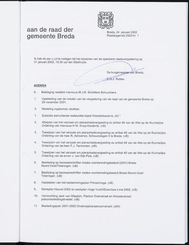 Breda - Bijlagen bij de notulen van de gemeenteraad 2002-01-01