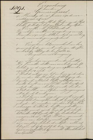 Teteringen - Notulen en bijlagen van de gemeenteraad 1891