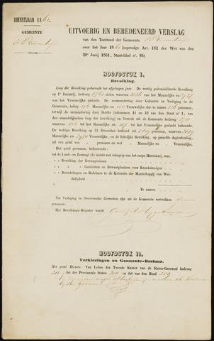 Princenhage - Verslagen van de toestand van de gemeente 1861