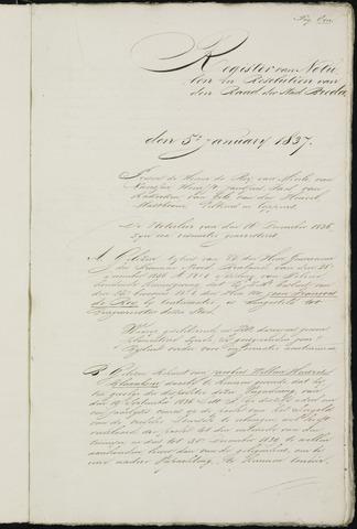 Breda - Notulen van de gemeenteraad 1837-01-01