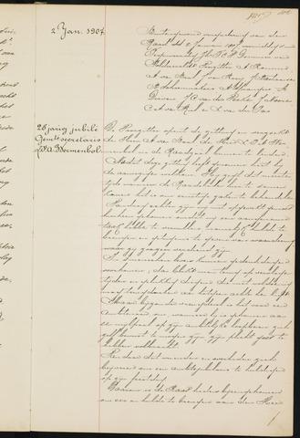 Princenhage - Notulen van de gemeenteraad 1907