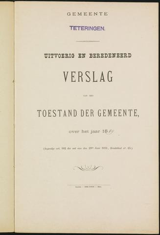 Teteringen - Verslagen van de toestand van de gemeente 1889