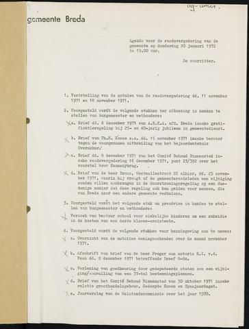 Breda - Bijlagen bij de notulen van de gemeenteraad 1972