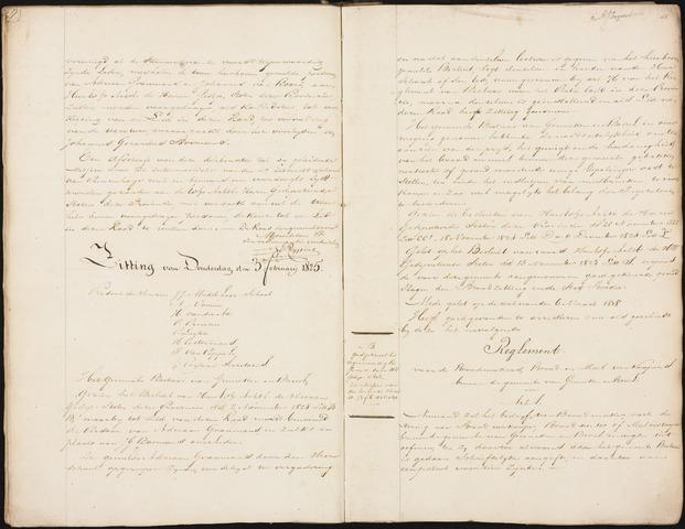 Ginneken en Bavel - Notulen van de gemeenteraad 1825-01-01