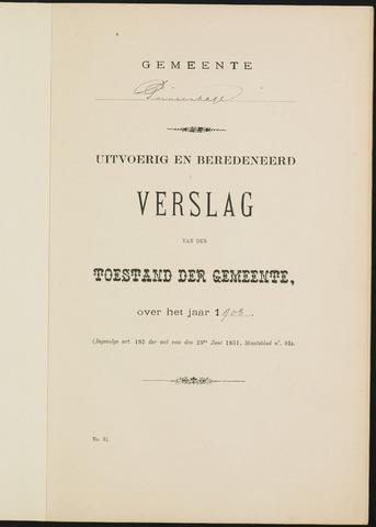 Princenhage - Verslagen van de toestand van de gemeente 1908-01-01