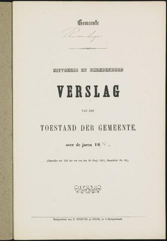 Princenhage - Verslagen van de toestand van de gemeente 1872