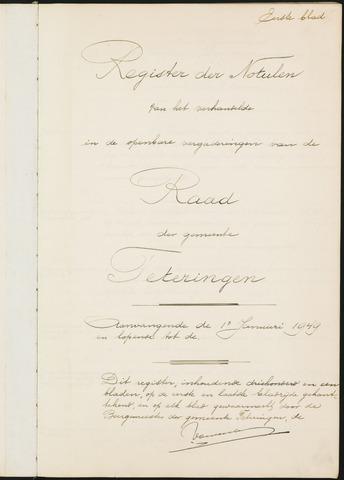 Teteringen - Notulen en bijlagen van de gemeenteraad 1949