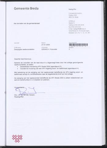 Breda - Bijlagen bij de notulen van de gemeenteraad 2005-01-27