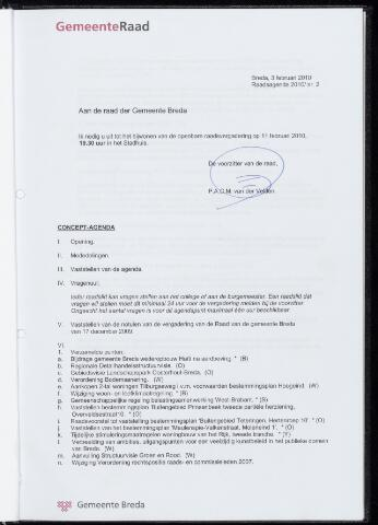 Breda - Bijlagen bij de notulen van de gemeenteraad 2010-02-11