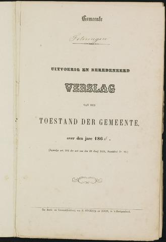 Teteringen - Verslagen van de toestand van de gemeente 1868