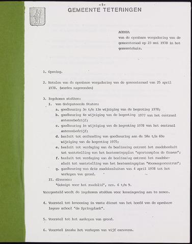 Teteringen - Notulen en bijlagen van de gemeenteraad 1978-05-23