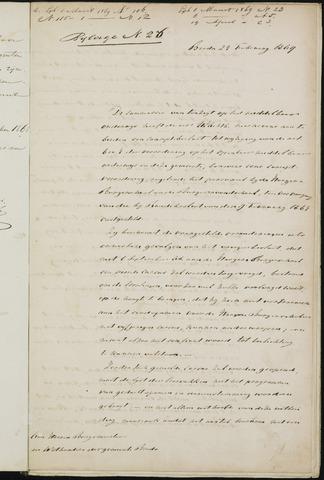 Breda - Bijlagen bij de notulen van de gemeenteraad 1869