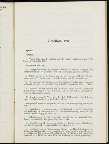 Breda - Notulen van de gemeenteraad 1955