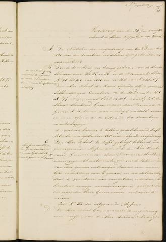 Princenhage - Notulen van de gemeenteraad 1822
