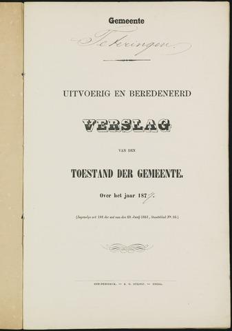 Teteringen - Verslagen van de toestand van de gemeente 1877