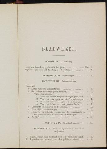Breda - Verslagen van de toestand van de gemeente 1879