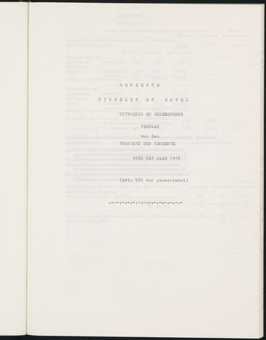 Ginneken en Bavel - Verslagen van de toestand van de gemeente 1916