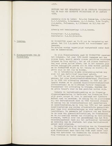 Prinsenbeek - Notulen van de gemeenteraad 1959