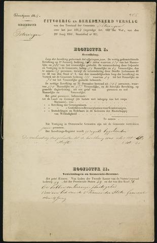 Teteringen - Verslagen van de toestand van de gemeente 1864
