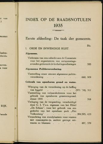 Breda - Indexen op de notulen van de gemeenteraad 1935-01-01