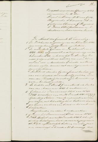 Princenhage - Notulen van de gemeenteraad 1851-01-01
