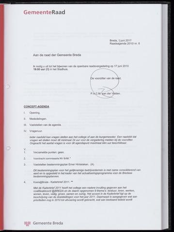 Breda - Bijlagen bij de notulen van de gemeenteraad 2010-06-17