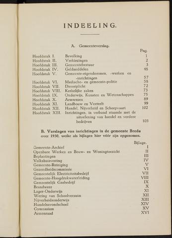 Breda - Verslagen van de toestand van de gemeente 1930
