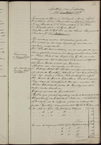 Ginneken en Bavel - Notulen van de gemeenteraad 1884-01-01