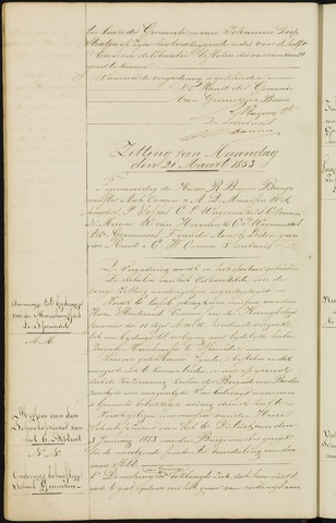 Ginneken en Bavel - Notulen van de gemeenteraad 1853-01-01